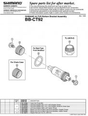 Monobloc SHIMANO BB-CT92E BSA 68/116mm E-Type