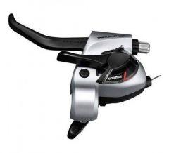 Maneta Frana SHIMANO Tourney TX ST-TX800-L 3 Viteze 1800mm Stanga Argintiu