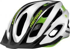 Casca MERIDA Team MTB Glossy Alb/ Verde (55-59cm)
