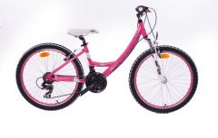 Bicicleta CROSS Impulse 24'' wave - rosu