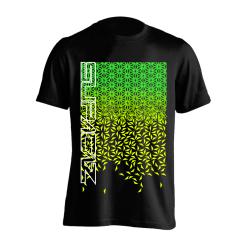 Tricou SUPACAZ - Star Fade - Verde neon/Galben neon XL