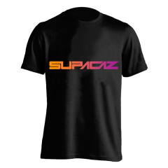 Tricou SUPACAZ - Fader - Orange neon/Mov neon XL