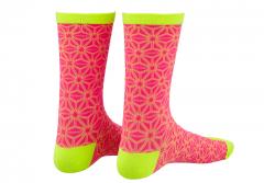 Sosete SUPACAZ Asanoha - Roz neon/Galben neon - L/XL