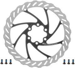Disc Frana MILES 160mm Argintiu/negru