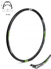 Janta CROSSER X6 26'' 32H Negru cu sticker verde- capsata