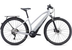 Bicicleta SPECIALIZED Turbo Vado 4.0 Step-Through - Gloss Dove Grey/Black/Liquid Silver L