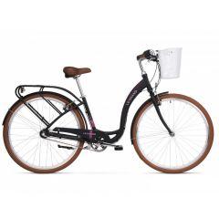 Bicicleta LE GRAND Lille 4 D 28 L Negru-Roz-Mat 2020