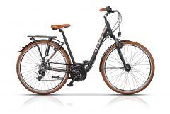 "Bicicleta CROSS Arena Low Step Trekking 28"" Negru/Maro 460mm"