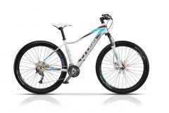"Bicicleta CROSS Fusion Lady 27.5"" Alb/Mov/Albastru 440mm"