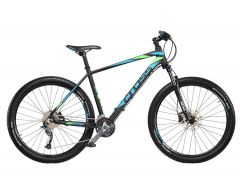 "Bicicleta CROSS Fusion Man 27.5"" Negru/Albastru/Verde 500mm"