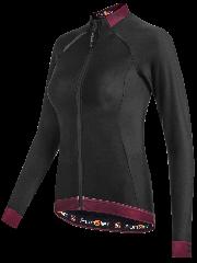 Bluza termica FUNKIER Bernalda W Pro impermeabil dama - Negru/Rosu XL