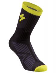 Sosete SPECIALIZED SL Elite Winter - Black/Neon Yellow M