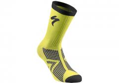 Sosete SPECIALIZED SL Elite Winter - Neon Yellow/Black S