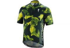 Tricou SPECIALIZED RBX Comp Camo SS - Cast Blue/Ion Yellow Camo Xl