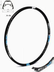 Janta CROSSER X6 28'' 36H negru / albastru - capsata