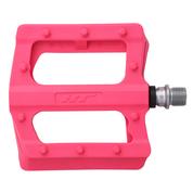 Pedale HT Plastic cu Rulmenti Roz Neon