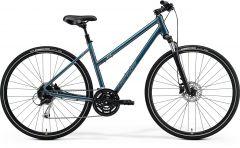 Bicicleta MERIDA Crossway 100 L (55L'') Teal|Albastru|Argintiu|Albastru|Lime 2021
