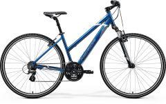 Bicicleta MERIDA Crossway 10-V L (54L'') Albastru|Albastru|Alb 2021