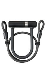 Incuietoare U AXA Newton Pro UL MINI 150/14 + cablu 100*8mm negru