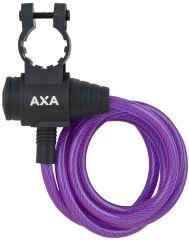 Incuietoare cablu AXA Zipp 120/8 mov