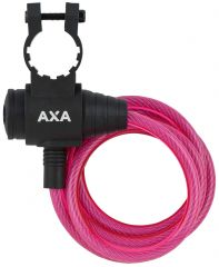 Incuietoare cablu AXA Zipp 120/8 roz
