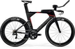 Bicicleta MERIDA Time Warp Tri 10K-E Triatlon Carbon UD L (57'') Negru|Argintiu|Rosu 2021