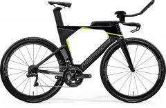 Bicicleta MERIDA Time Warp Tri Limited-E Triatlon Carbon UD S (51'') Negru|Argintiu|Verde 2021
