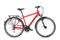 Bicicleta KROSS Trans 3.0 28'' L Rosu|Negru 2021