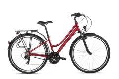 Bicicleta KROSS Trans 1.0 D 28'' S Rubiniu Negru 2021