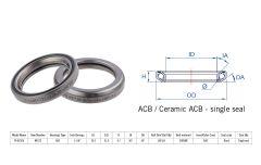 "Rulment cuvete FSA TH-872/DJ ACB 36x36 1""1/8 singleS MR172"