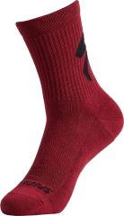 Sosete SPECIALIZED Cotton Tall Logo - Maroon L