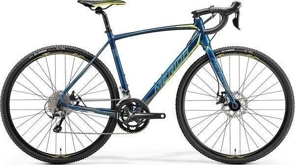 Bicicleta MERIDA Cyclo Cross 300 M/L(54) Albastru Petrol (Galben/ Cyan) 2018