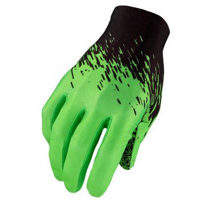Manusi cu degete SUPACAZ SupaG - negru / verde neon - L
