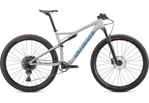 Bicicleta SPECIALIZED Epic Comp Carbon 29'' - Gloss Dove Grey Blue Ghost Pearl/Pro Blue M