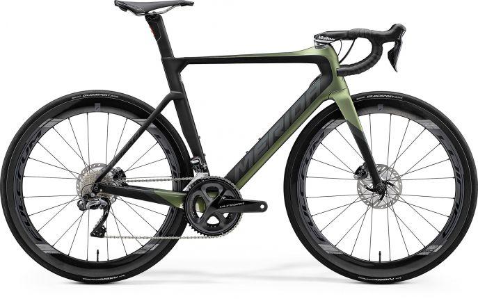 Bicicleta MERIDA Reacto Disc 8000-E M-L Verde Negru 2020