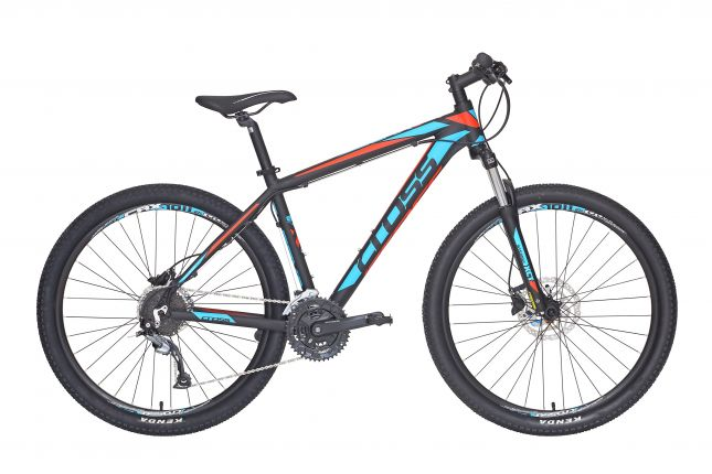 Bicicleta CROSS Grx 827 27.5 Negru/Albastru/Rosu 510mm