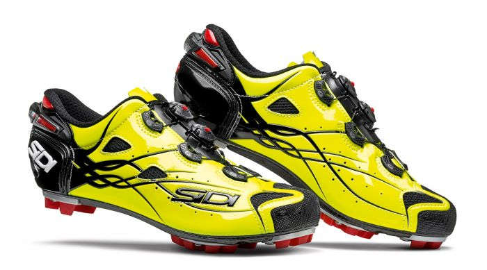 Pantofi MTB SIDI Tiger Carbon SRS galben/negru 43